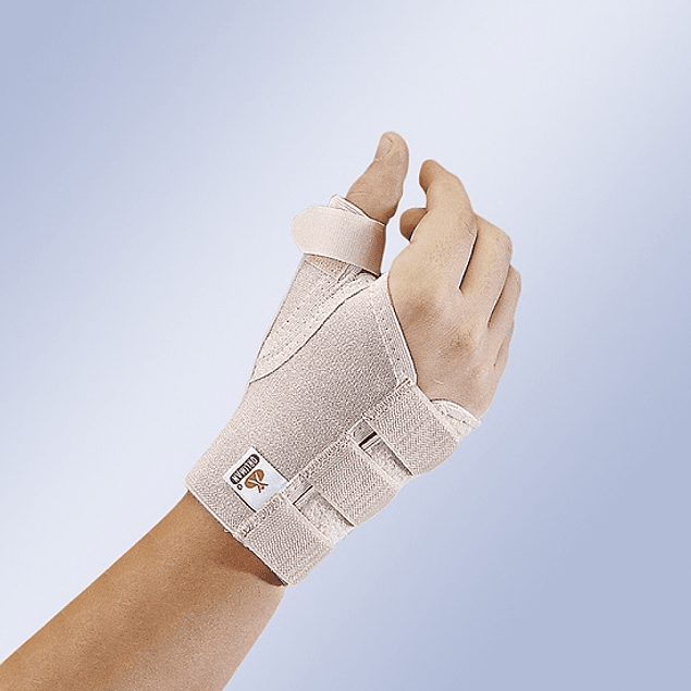 Pulso elástico curto aberto com tala de polegar amovível