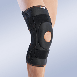 Open kneecap Lycra knee joint with polycentric lateral joints and velcro adjustment bands