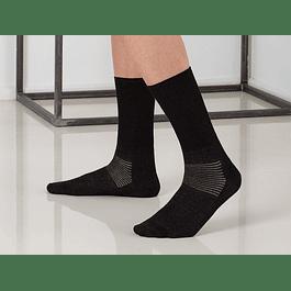 Meia até meio da perna de algodão com fibra de prata
