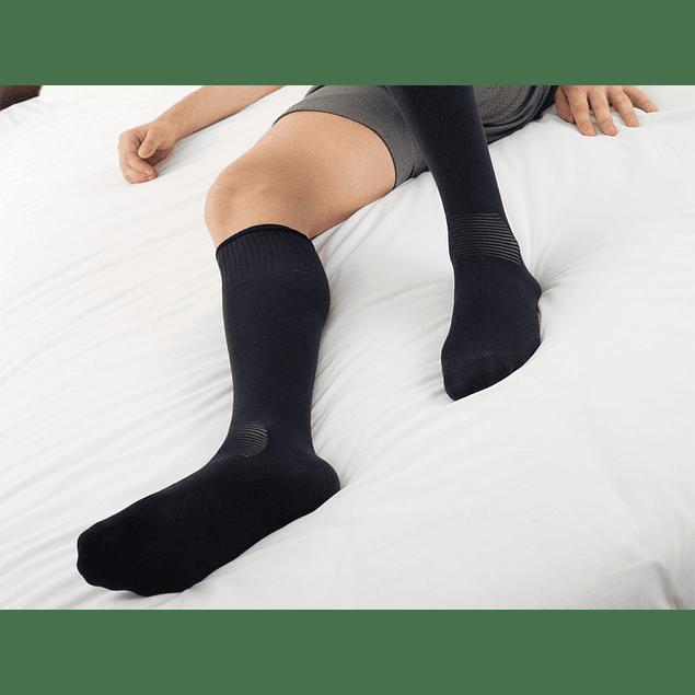 Meia até ao joelho de algodão com fibra Crabyon