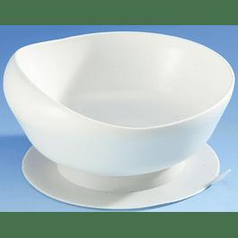 Prato de sopa inclinado com Ventosa