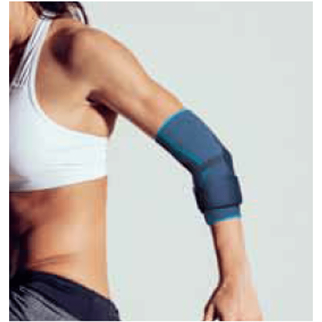 Cotoveleira Elástica com almofada de silicone e ajuste em velcro
