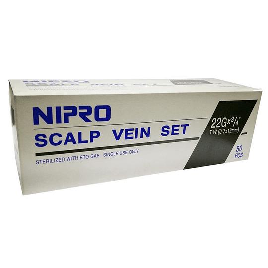 Conjuntos de Infusión con Alas (Mariposa) Nipro – 22G x 3/4 (0,7x19mm) – Negro