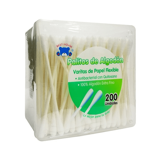Cotonitos / Palitos de Algodón 200 unidades