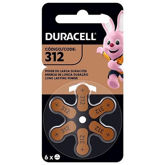 Pila p/Audífonos Duracell 312