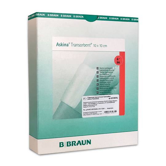 ASKINA TRANSORBENT ESPUMA C/ADHES 10 X 10 CM