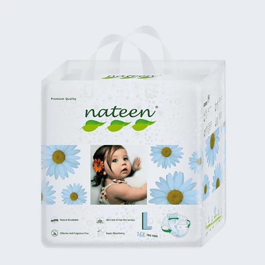 Pañal Nateen Talla L Premium x10 un