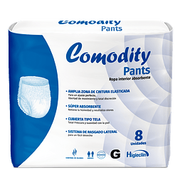 COMODITY PANTS  G 8 UNID (ROPA INTERIOR PAÑAL CALZON).