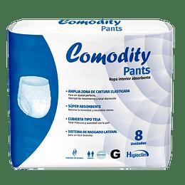 Comodity Pants Talla G - 8 Unidades (Ropa Interior Absorbente)
