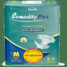 Pañal Comodity Plus Care – Talla M – 8 unidades