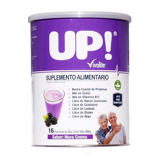 Vivalite Suplemento Up! | Sabor Mora Crema 900grs