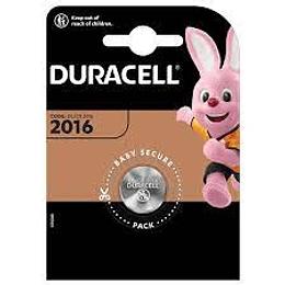 Pila Duracell Tipo Moneda DL2016 CR2016 DL2016B