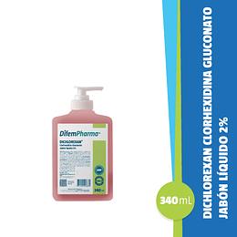 Dichlorexan Clorhexidina con Dispensador 340 Ml.