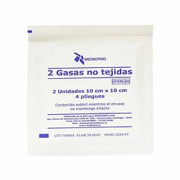 Caja Gasa No Tejida 10×10 Medicpro (50 sobres)