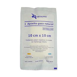 Apósito Gasa Natural Medicpro 10×10 cm