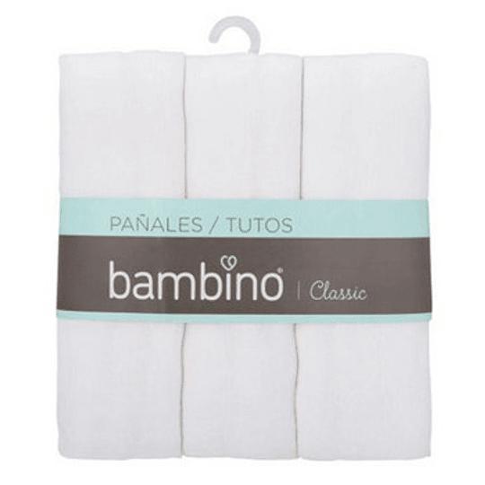 Pañales Blancos Bambino 3 unidades 80x80cm