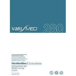 Media Liga Autoreggente Varimed Microfibra 280 Punta Aperta