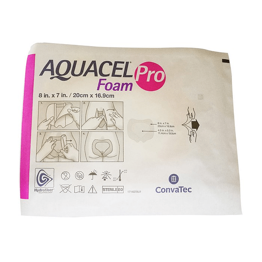 AQUACEL Foam Sacro – Apósito Estéril de Espuma – 20×16,9cm - Unidad