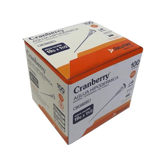 AAAG2558 – Agujas hipodérmicas Cranberry 25G x 5/8 – Unidad