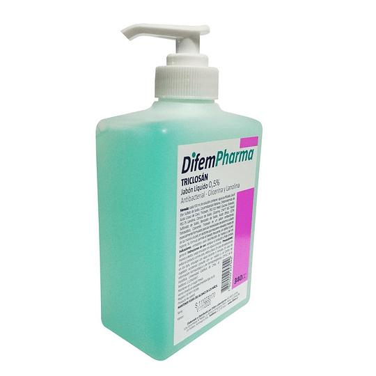 DifemPharma Triclosan Jabón Líquido 340ml – Antibacterial, Glicerina y Lanolina