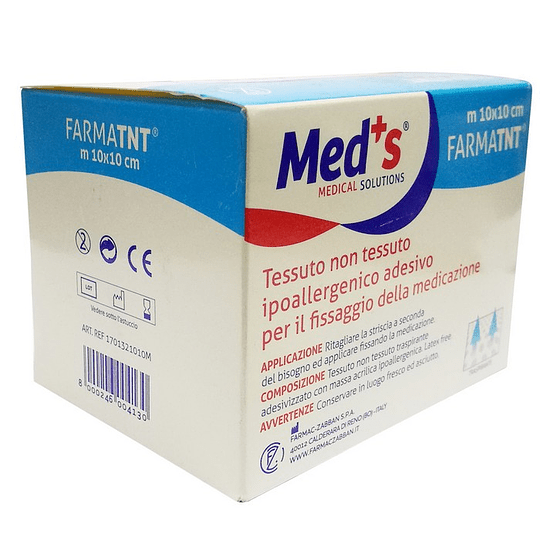 21005M – Med's FarmaTNT 10cm x 10mt – Tela no Tejida Adhesiva Hipoalergénica