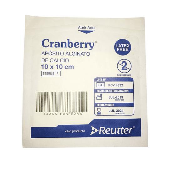 AAAACA10 – Apósito Alginato de Calcio Cranberry 10x10cm (Unidad)