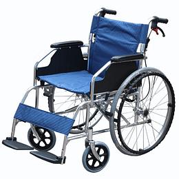 Silla de Ruedas Aluminio (Azul)