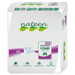 """Pañal Nateen Talla """"M"""" x10un Premium"""