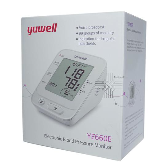 YE660E - Toma Presión Digital c/Voz Yuwell - 99 Memorias