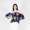 Blusa Strapless Flores