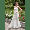 Vestido Sirena Flores Unilateral