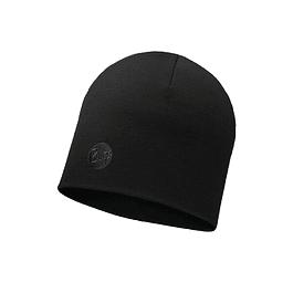 Merino Wool Thermal Hat Solid Black