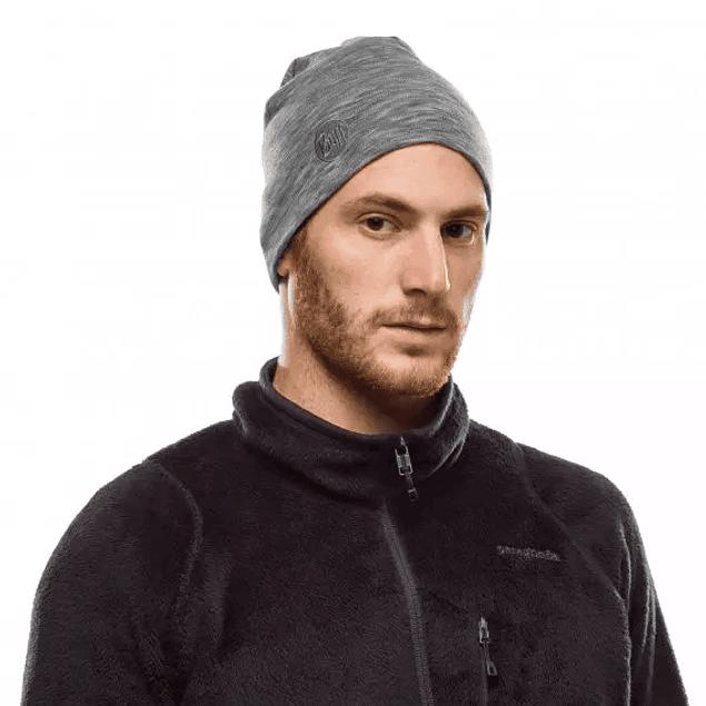 Gorro lana merino heavyweight BUFF Fog Grey Multistripes