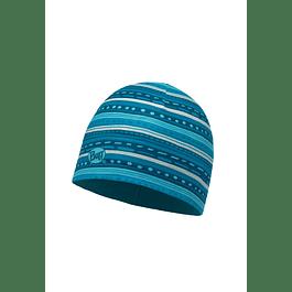 Microfiber & Polar Hat Child Frill Turquoise