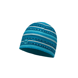 Microfiber & Polar Hat Child Frill Turquoise