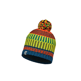 Junior Knitted & Polar Hat Hops Seaport Blue Primaloft®