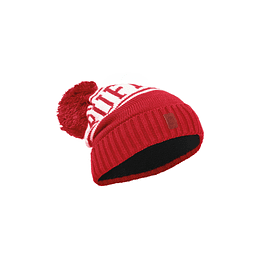 Junior Knitted & Polar Hat Shiko Red