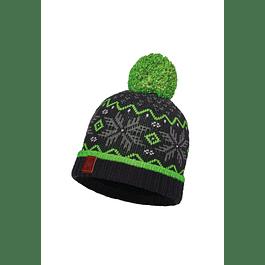 Junior Knitted & Polar Hat Nester Black