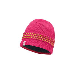 Junior Knitted & Polar Hat Jambo Pink Azalea
