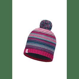 Knitted & Polar Hat Amity Pink Cerisse Primaloft
