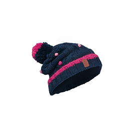 Junior Knitted & Polar Hat Dysha Dark Navy Primaloft