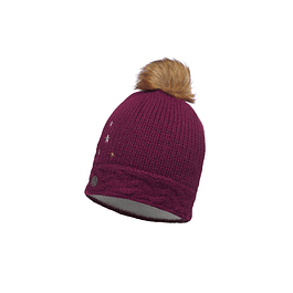 Junior Knitted & Polar Hat Darsy Amaranth Purple Primaloft
