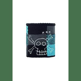 Junior Neckwarmer Knitted & Polar Fleece  Barty / Melange Grey