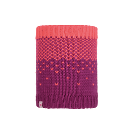 Knitted & Polar Neckwarmer Hilda Purple Raspberry