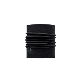 Heavy Merino Wool Neckwarmer Solid Black