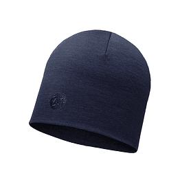Heavyweight Merino Wool Hat Solid Denim