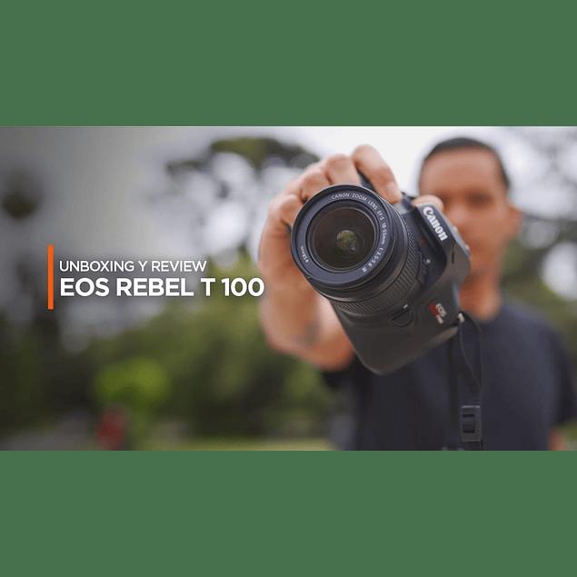 Camara EOS T100 KIT PREMIUM