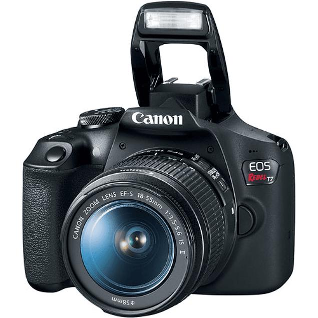 Cámara Canon EOS Rebel T7 DSLR con lente de 18-55 mm