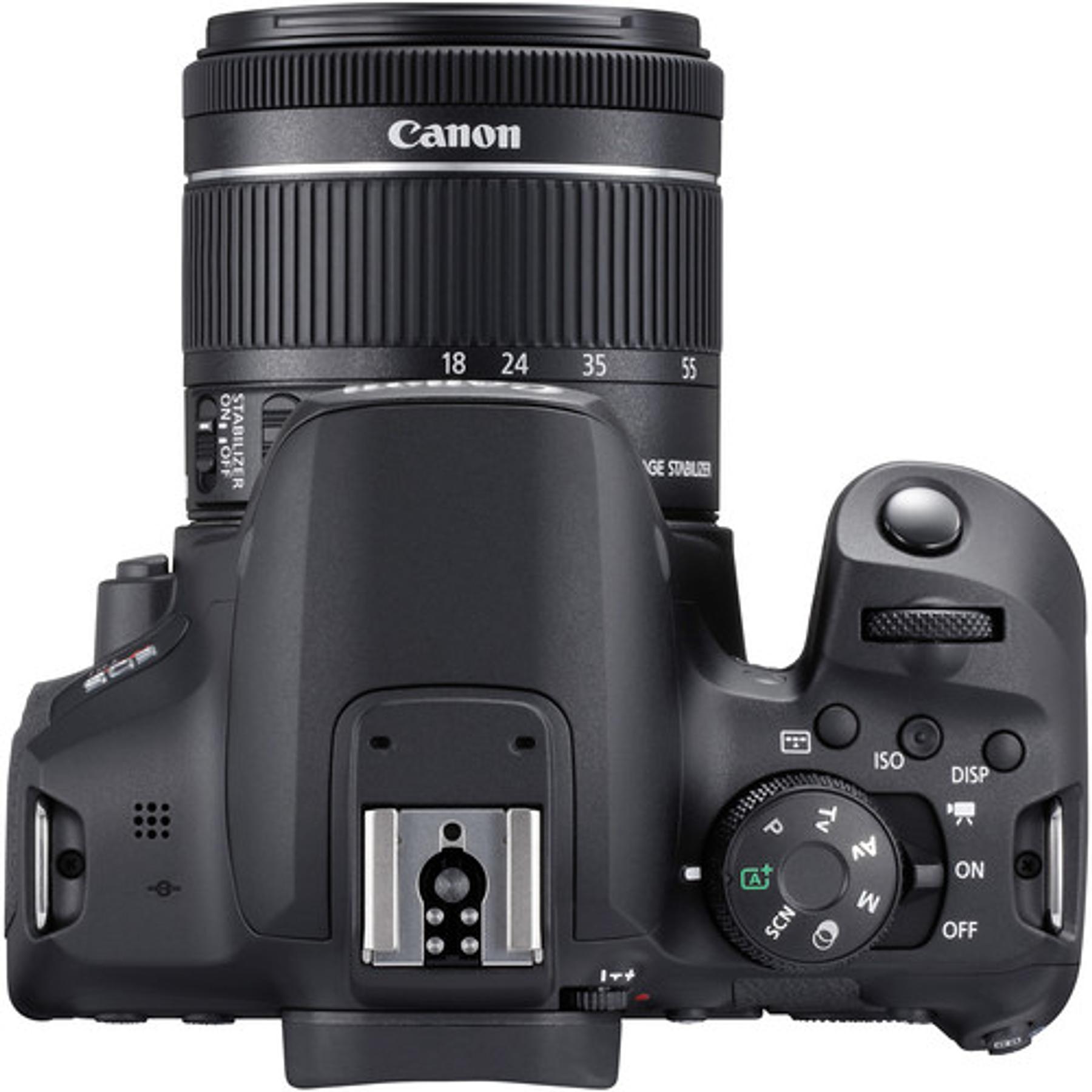 Cámara Canon EOS Rebel T8i DSLR con lente de 18-55 mm f/4-5,6 IS STM.