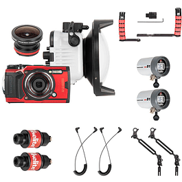 KIT CAMARA OLYMPUS TOUGH TG-6 + FLASH KIT + EMPUÑADURAS